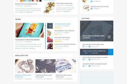 Webdesign (interface site web magazine)