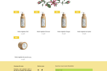 Maquette site-web PURECOSMY