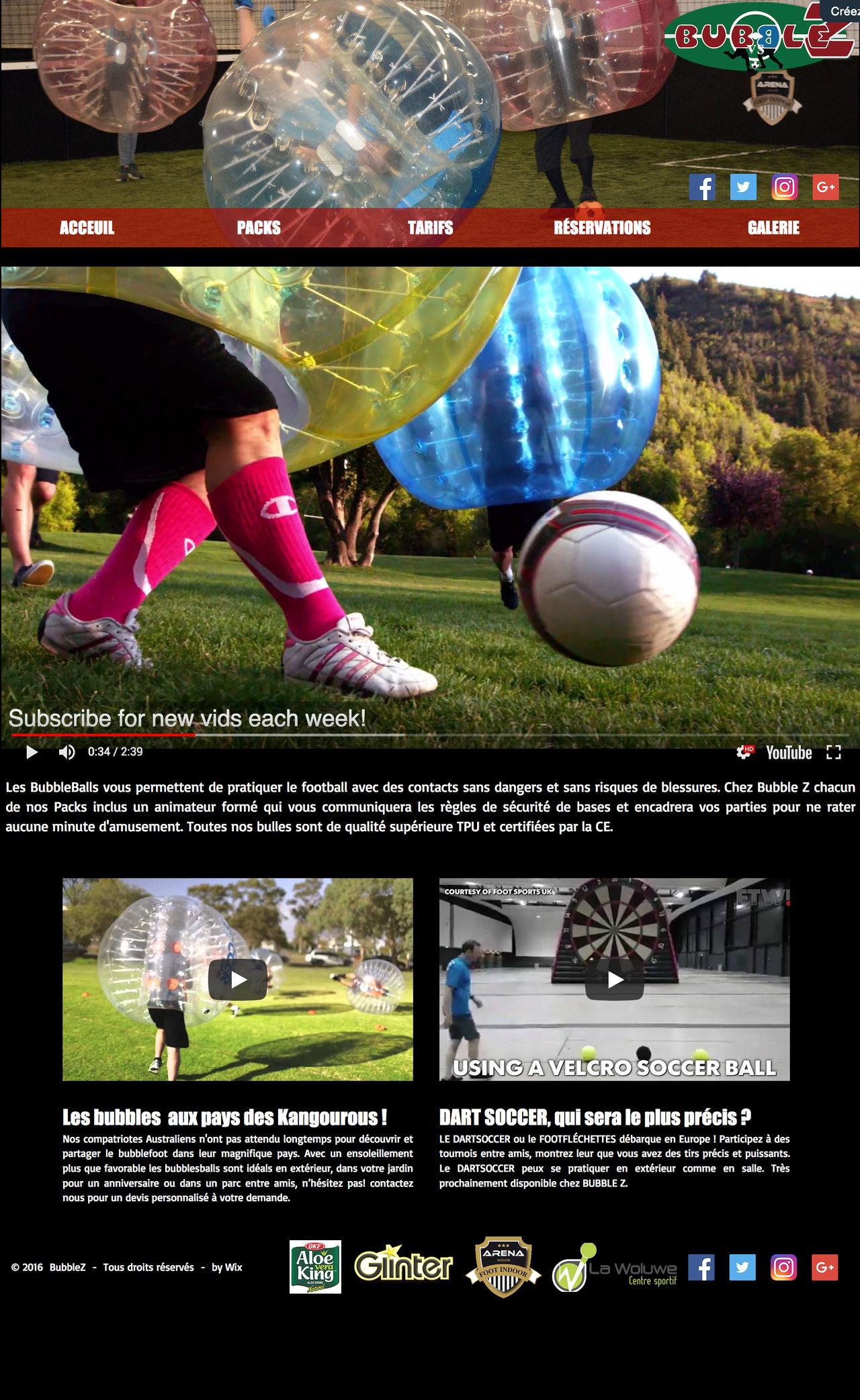 Maquette site-web BUUBLEZBELGIUM