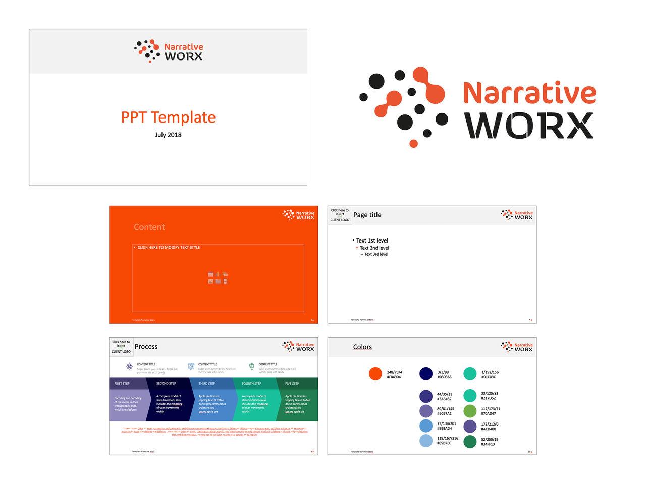Logo et charte graphique Narrative Worx