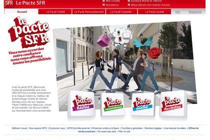 """Site Internet """"Le Pacte SFR"""""""