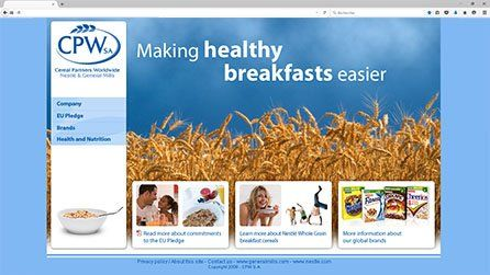 Site Internet Cereal Partners Worldwide