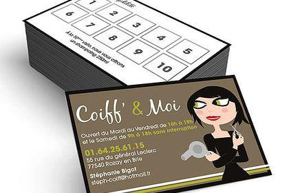 Carte de visite salon de coiffure