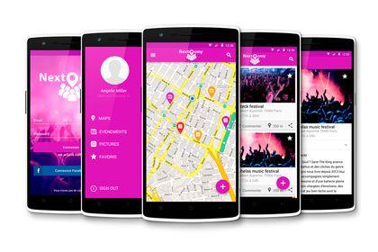 UX-UI design - application Nextoomy