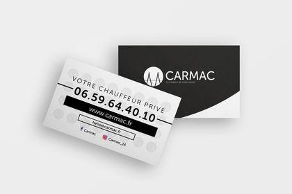 Carte de visite pour la société CARMAC