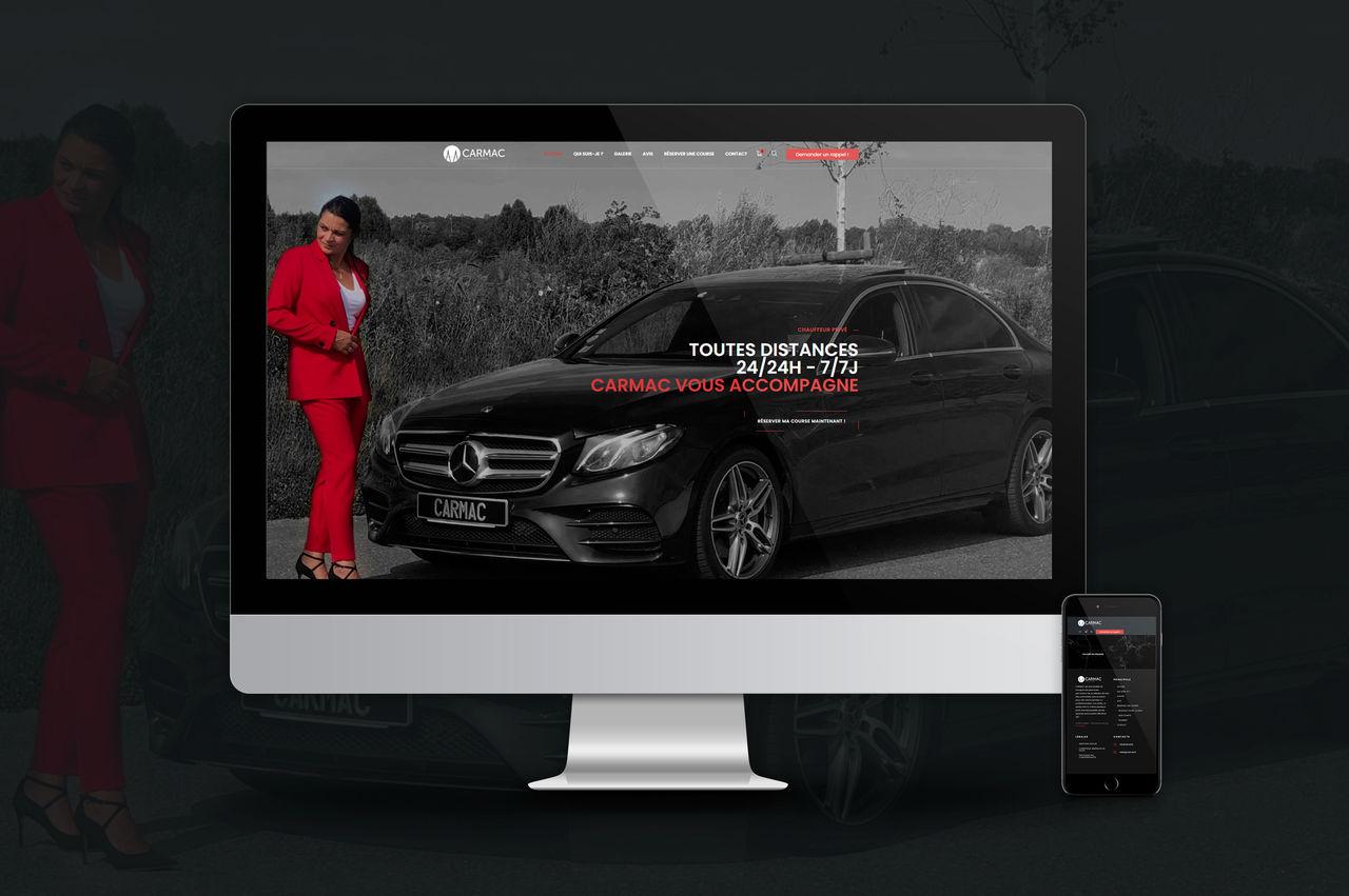 Site internet pour un chauffeur privé