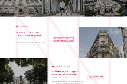 Maquette de site d'une agence immobilière