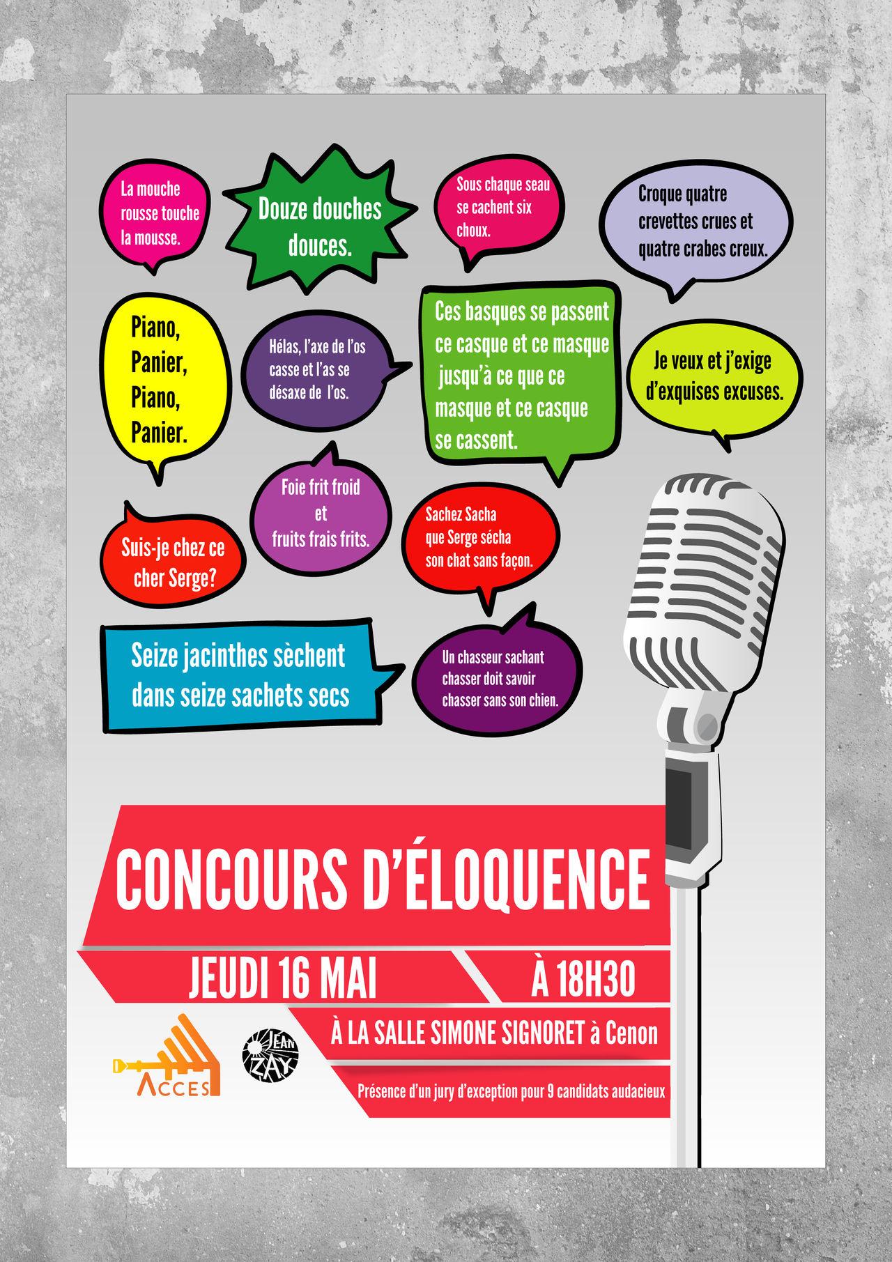 Affiche Concours d'éloquence
