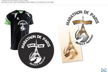 Création de graphisme t-shirt marathon de Paris