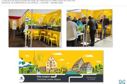 Création d'une décoration pour stand job café