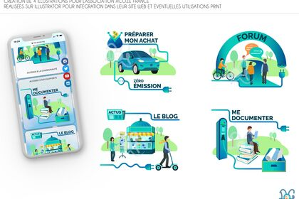 Création d'illustrations pour ACOZE France
