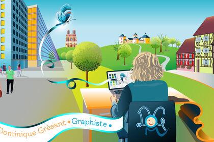 Bannière Dominique GRESANT Graphiste