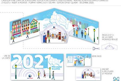Carte de Voeux 2021 pour Pôle emploi Grand Est