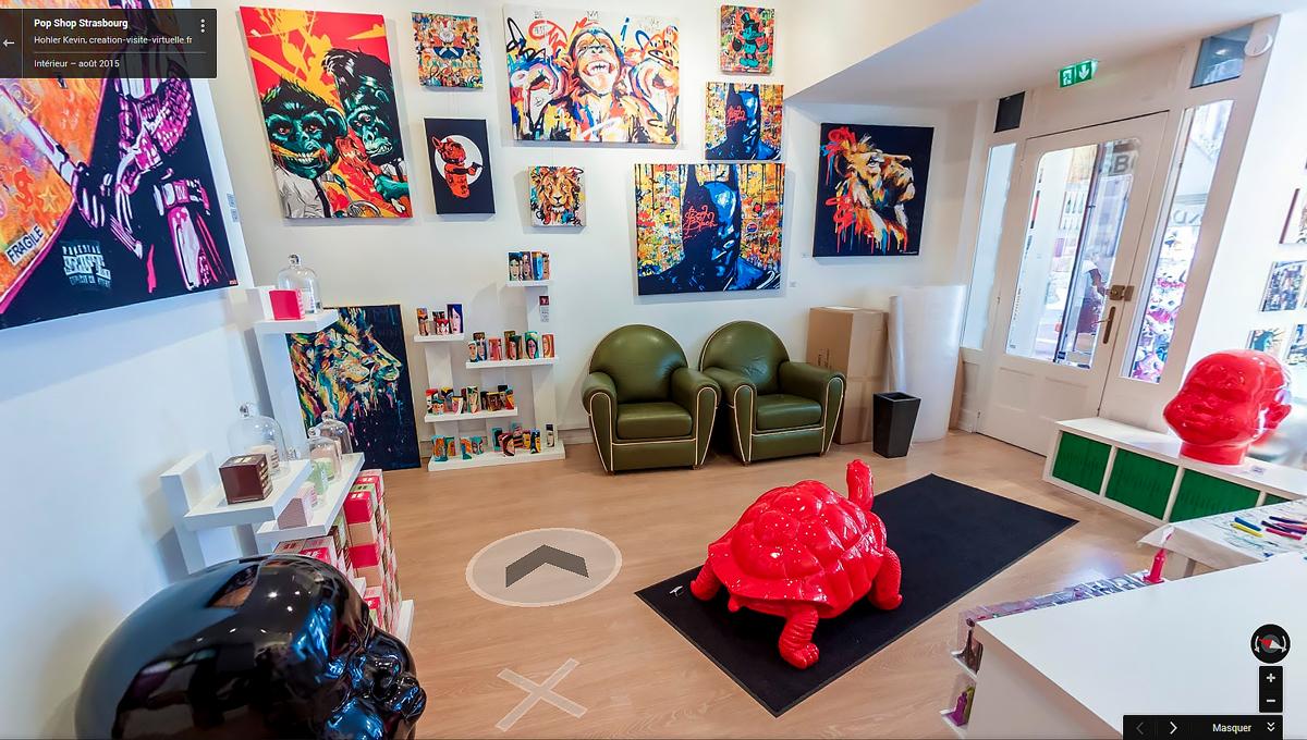 Création visite virtuelle : Pop Shop Strasbourg