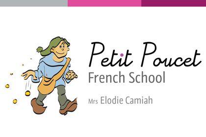 """Cartes de visite """"Petit Poucet French School"""""""