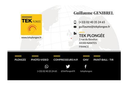 Cartes de visite TEK Plongée