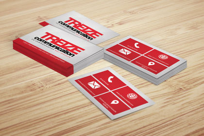 Cartes de visite treize communication