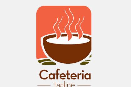 Logo pour une cafeteria