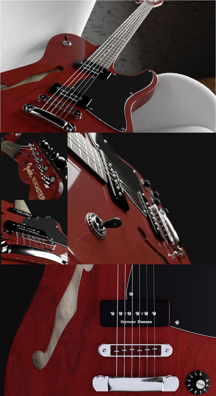 Modélisation 3D   Fender Thinline JA90