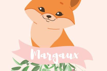 Affiche illustration renard personnalisée