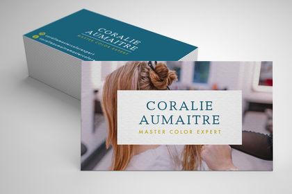 Carte de visite Coralie Aumaitre coiffure
