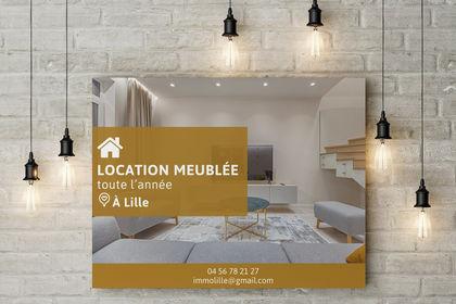 Affiche agence immobilière