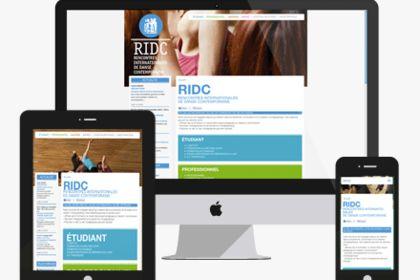 Création d'un site internet - RIDC - Graphiste