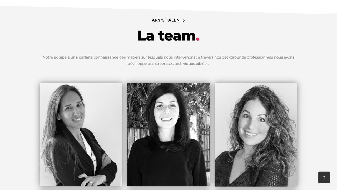 Web Design et Web Dev Ary's Talents