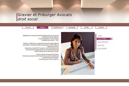 Site web - cabinet d'avocats