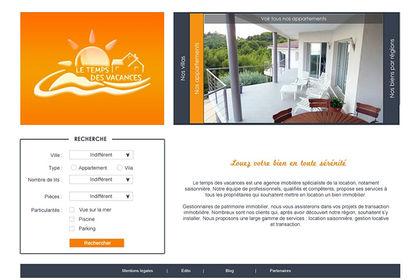 Site web - Le temps des vacances