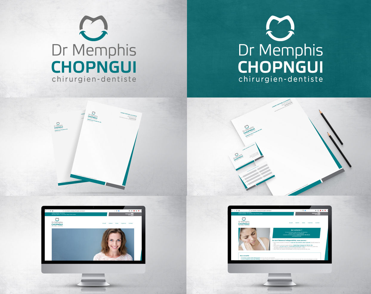 Création logo, carte de visite et site web