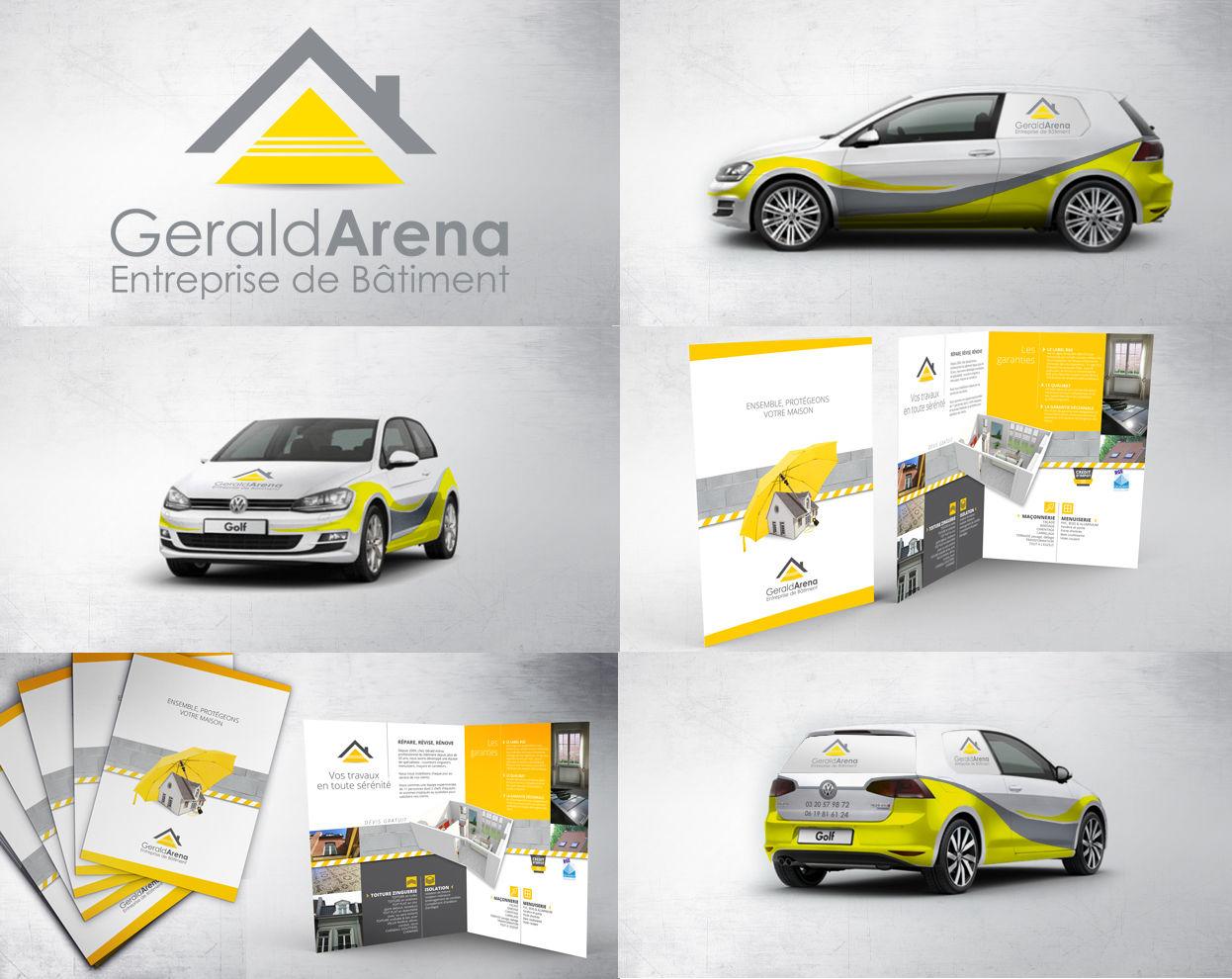 Création logo, plaquette, stickers véhicule