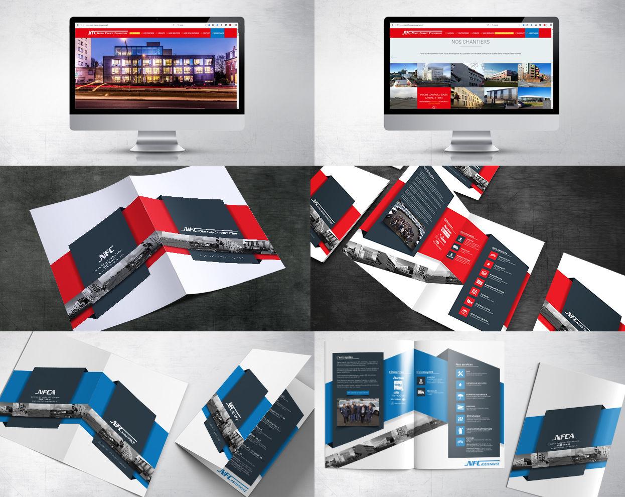 Création site web et plaquette commerciale