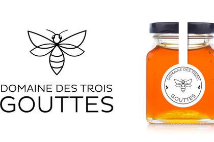 Logo pack alimentaire miel domaine des 3 gouttes
