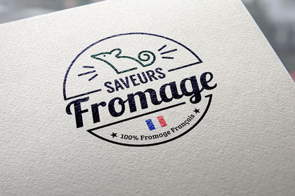 Logo alimentaire boutique Saveurs fromage