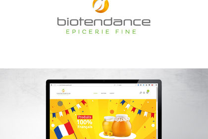 Logo et site e-commerce Biotendance