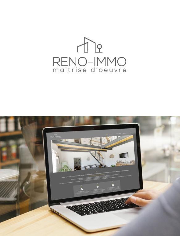 Logo site web reno immo