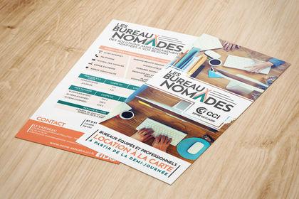 Identité & Flyer - Bureaux Nomades