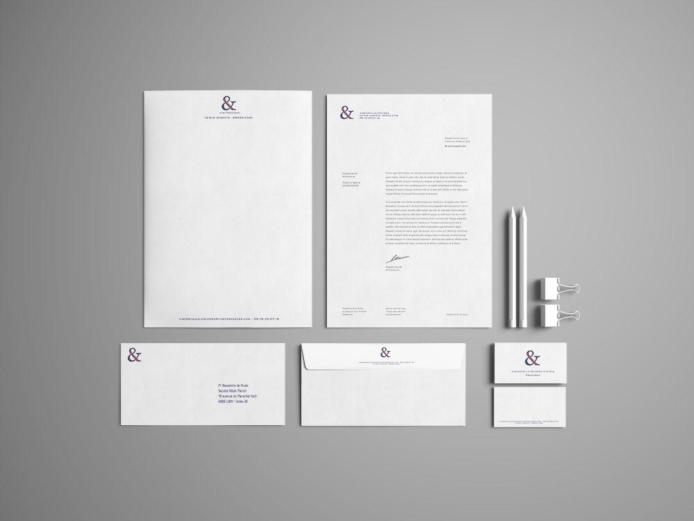 [ IDENTITÉ VISUELLE ] Création logo + papeterie