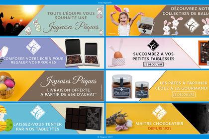 Réalisations de slide pour un Chocolatier