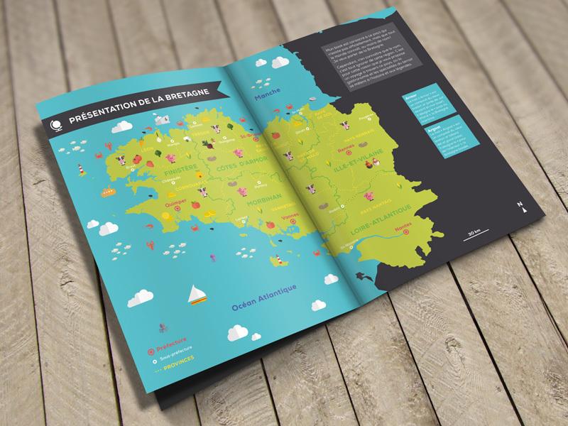 Infographie - Carte illustrée