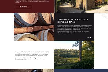 Site internet Château de Fontlade