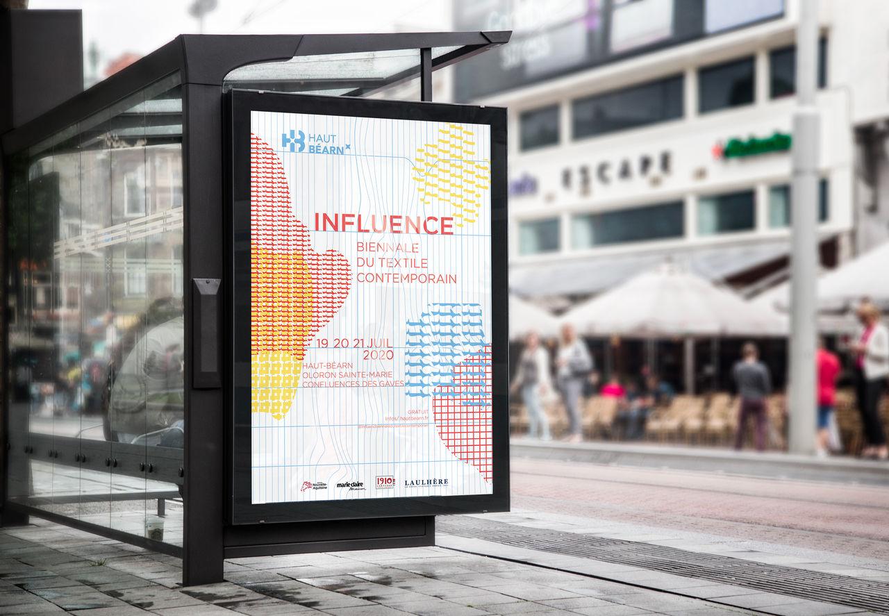 Affiche biennale du textile