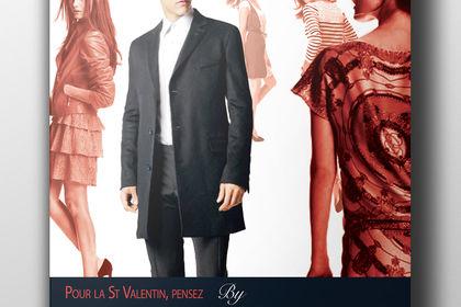 Affiche publicitaire Saint Valentin