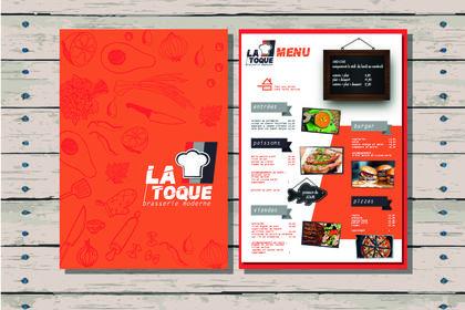 Création d'un menu restaurant