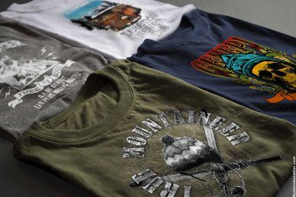Tee shirts pour une marque touristique
