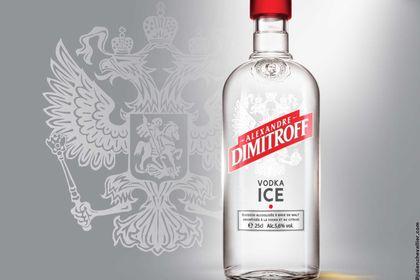 Design étiquette bouteille de vodka