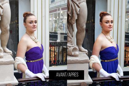 PURPLE DRESS : Retouche beauté