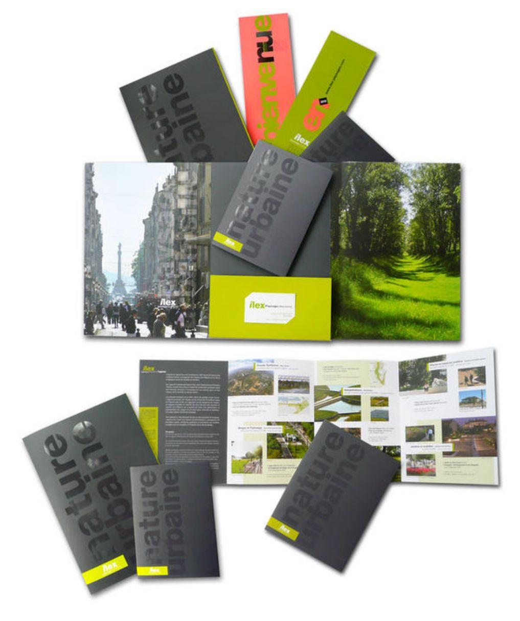 DESIGN GRAPHIQUE  pour ILEX [paysage et urbanisme]