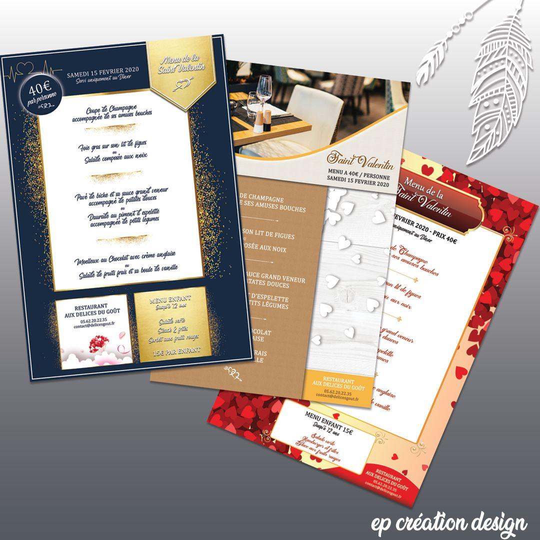 Menus Restaurant Saint Valentin